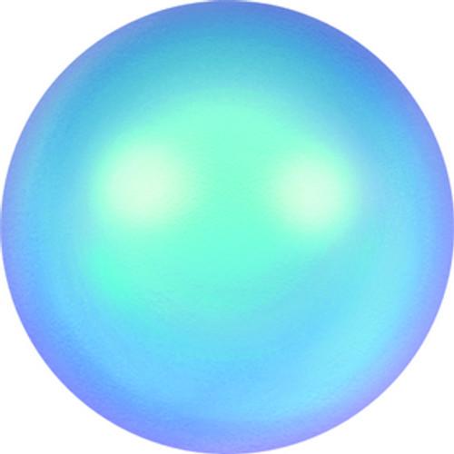 Swarovski style # 5818 Half-Drilled Pearls Crystal Iridescent Light Blue Pearl