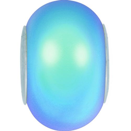 Swarovski style # 5890 BeCharmed Pearls Crystal Iridescent Light Blue  Steel Pearl