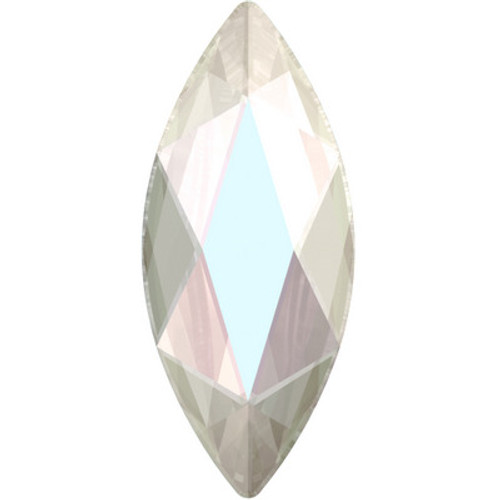 Swarovski 2201 8mm Marquise Flatback Crystal AB Hot Fix