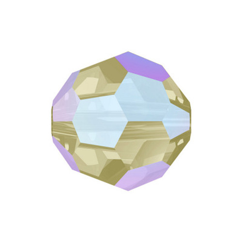Swarovski 5000 8mm Round Beads Light Colorado Topaz Shimmer