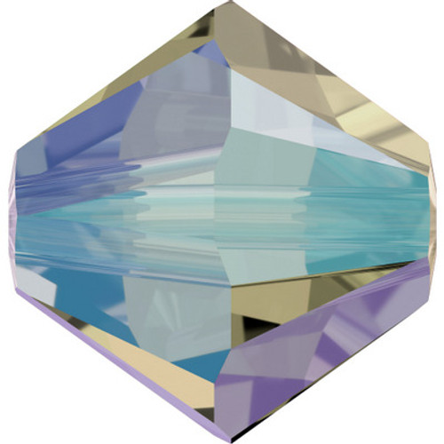Swarovski 5328 3mm Xilion Bicone Beads Black Diamond Shimmer 2X