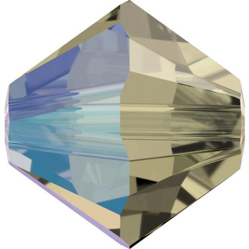 Swarovski 5328 6mm Xilion Bicone Beads Black Diamond Shimmer