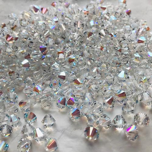 Swarovski 5328 6mm Xilion Bicone Beads Crystal Shimmer (36 pieces)