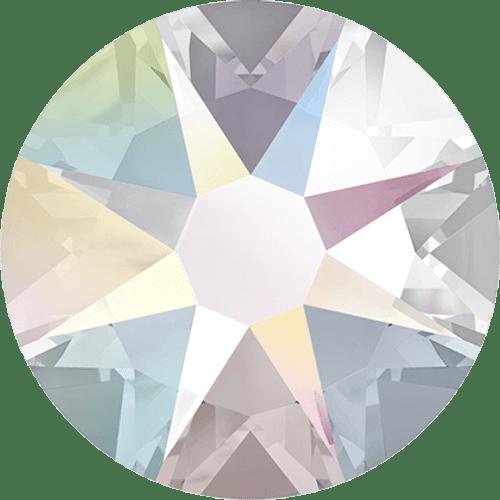 Swarovski 2028 12ss(~3.1mm) Xilion Flatback Crystal AB   Hot Fix