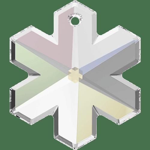 On Hand: Swarovski 6704 30mm Snowflake Pendant Crystal AB  (2 pieces)