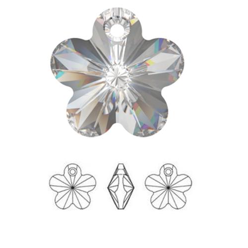 On Hand: Swarovski 6744 14mm Flower Pendant Crystal AB (4  pieces)