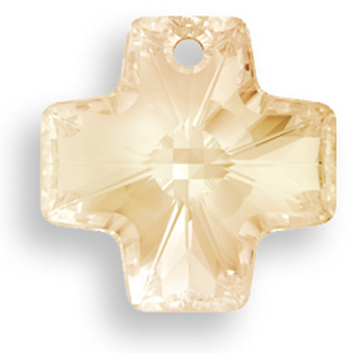 On Hand: Swarovski 6866 20mm Equal Cross Pendant Crystal Golden Shadow (3  pieces)