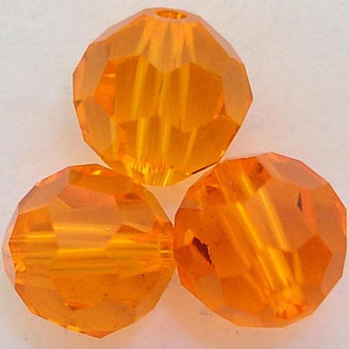 On Hand: Swarovski 5000 4mm Round Beads Red Topaz  (72 pieces)