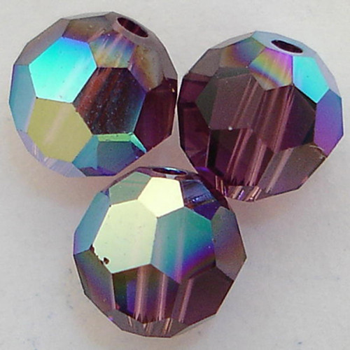 On Hand: Swarovski 5000 5mm Round Beads Amethyst AB  (36 pieces)