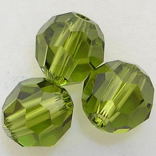 On Hand: Swarovski 5000 5mm Round Beads Olivine  (36 pieces)