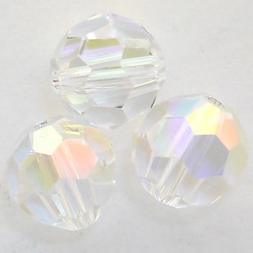 On Hand: Swarovski 5000 7mm Round Beads Crystal AB   (12 pieces)