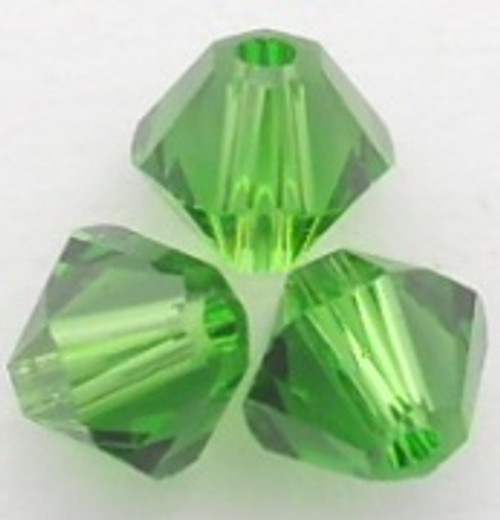 Swarovski 5328 4mm Xilion Bicone Beads Fern Green