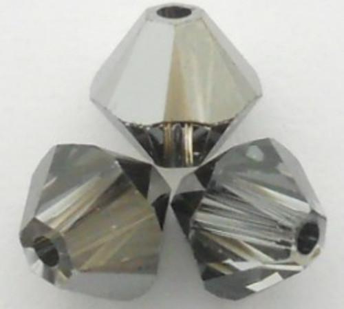 Swarovski 5328 6mm Xilion Bicone Beads Crystal Silver Night