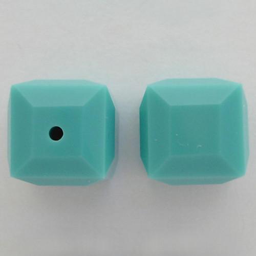Swarovski 5601 6mm Cube Beads Turquoise