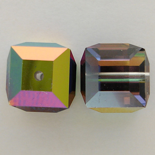 Swarovski 5601 8mm Cube Beads Crystal Vitrail Medium