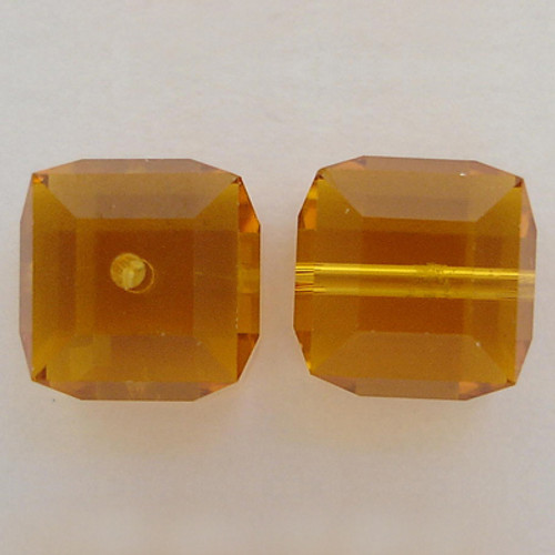Swarovski 5601 8mm Cube Beads Topaz