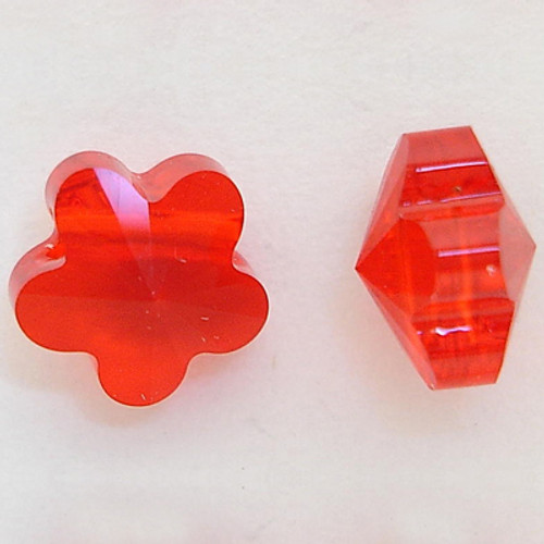 Swarovski 5744 6mm Flower Beads Light Siam