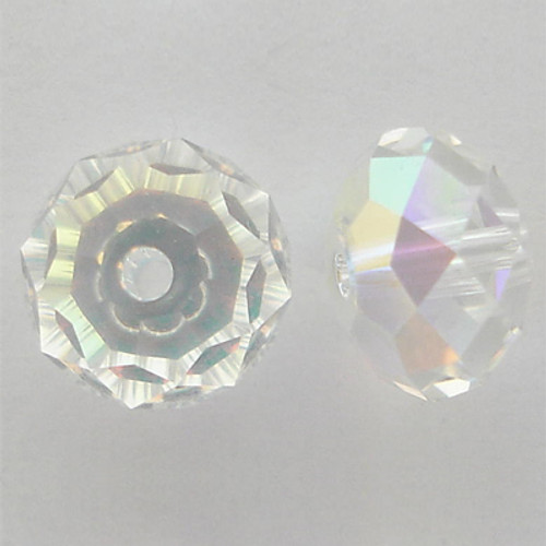 Swarovski 5040 8mm Rondelle Beads Crystal AB