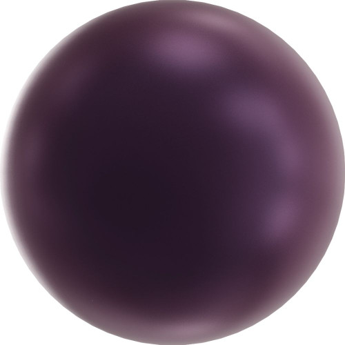 Swarovski 5810 12mm Round Pearls Elderberry