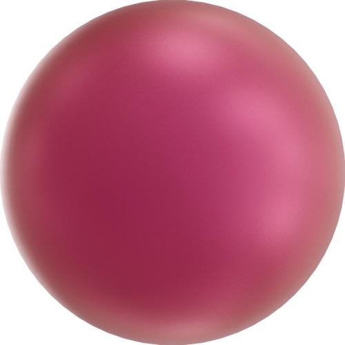 Swarovski 5817 6mm Half-Dome Pearls Mulberry Pink