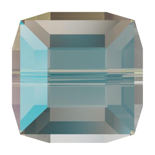 Swarovski 5601 4mm Cube Beads Black Diamond Shimmer