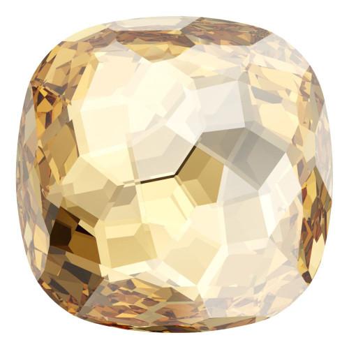 Swarovski 4483 12mm Fantasy Cushion Cut Fancy Stones Crystal Golden Shadow