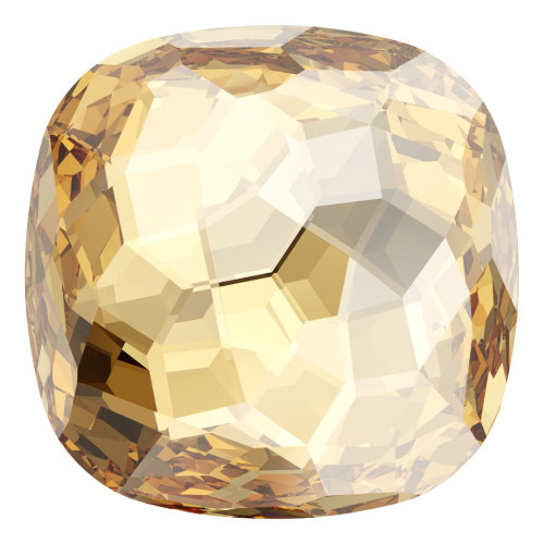 Swarovski 4483 14mm Fantasy Cushion Cut Fancy Stones Crystal Golden Shadow