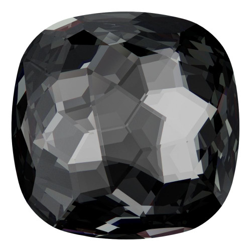 Swarovski 4483 14mm Fantasy Cushion Cut Fancy Stones Crystal Silver Night (24 pieces)