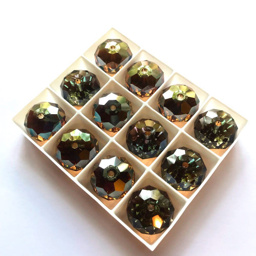 On Hand: Swarovski 5040 18mm Rondelle Beads Crystal Astral Copper (2 pieces)