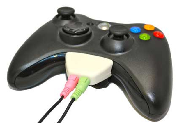 PC Headset Adapter for Xbox 360 Controller (White)