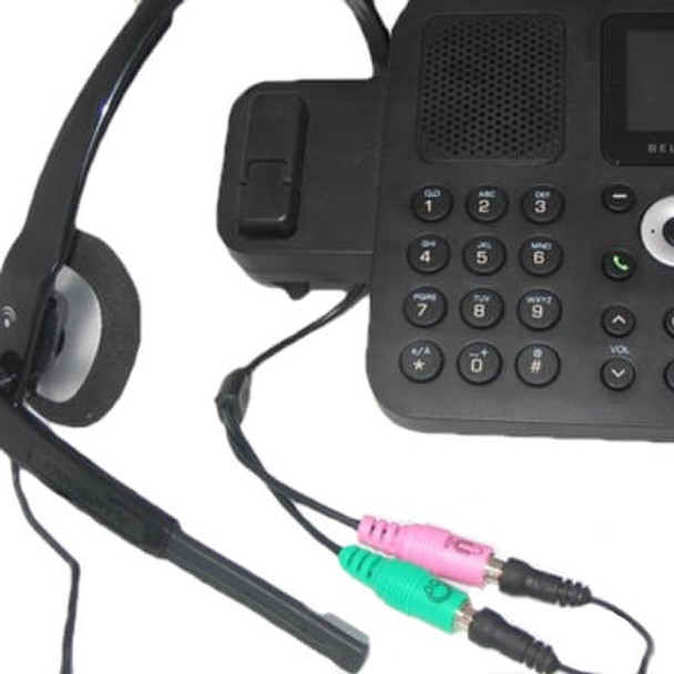 PC35-RJ9a Connect to phone and headphones