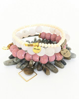 Berry Bracelet Stack on white background
