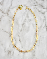 Celia Necklace - Chain on marble background