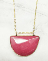 Olivia Necklace - Pink on marble background