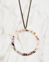 Keaton Necklace - Multi on marble background