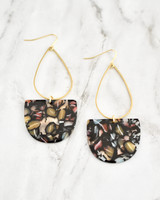 Emmy Earrings - Black Multi on marble background