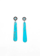 Turquoise Slab Post Earrings