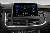 Chevrolet Tahoe black interior with screen