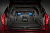 Chevrolet Tahoe rear view black interior