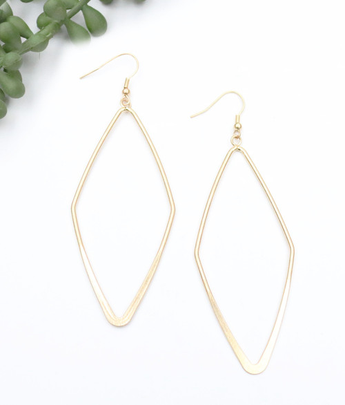 Diamond Shaped Earring - Gold