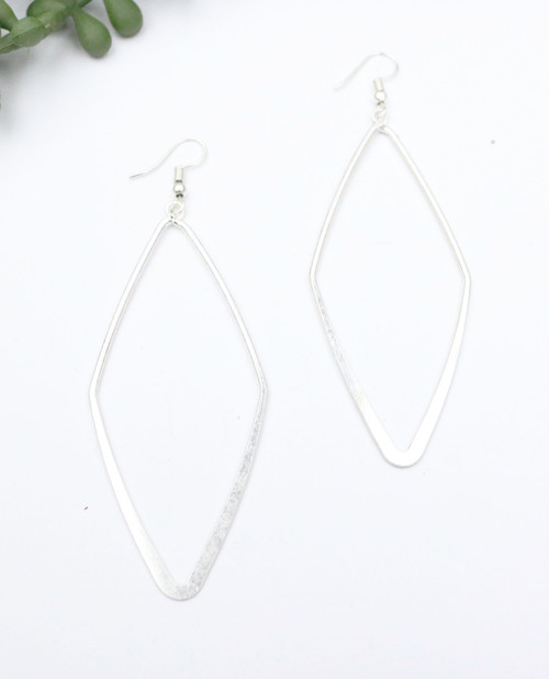 Diamond Shaped Earring - Silver