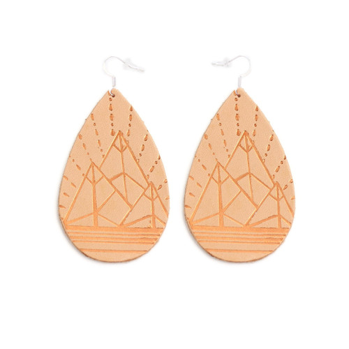 Tan Mountain Design Gatewood Leather Earrings