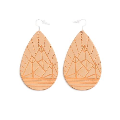 Tan Mountain Design Gatewood Leather Earrings