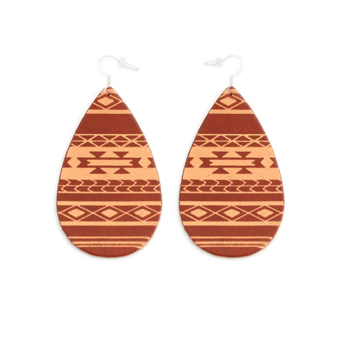 Tobacco & Tan Serape Gatewood Leather Earrings