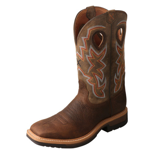"Men's 12"" Western Work Boot - MLCA001 image 1"