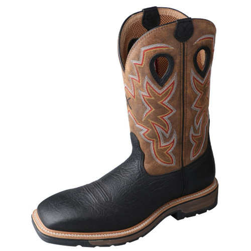 "Men's 12"" Western Work Boot - MLCS005 image 1"