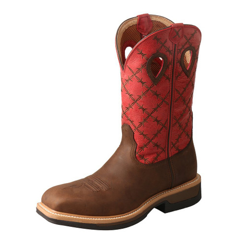 "Men's 12"" Western Work Boot - MLCA005 image 1"
