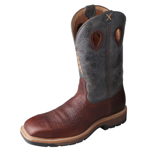 "Men's 12"" Western Work Boot - MLCS006 image 1"