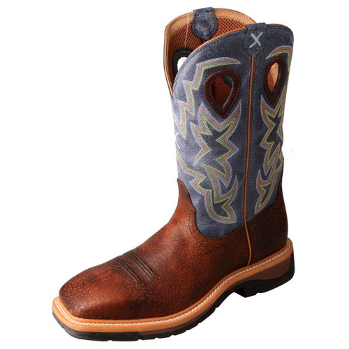 "Men's 12"" Western Work Boot - MLCS016 image 1"