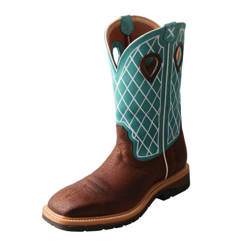 "Men's 12"" Western Work Boot - MLCS021 image 1"
